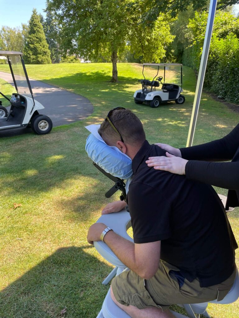 Massage on the Golf Course