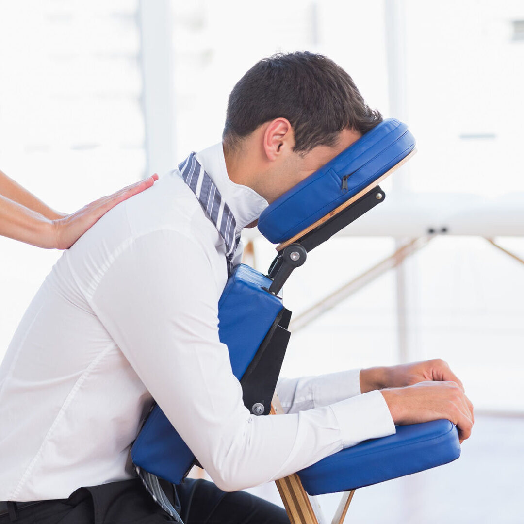 Corporate chair massage in Seattle